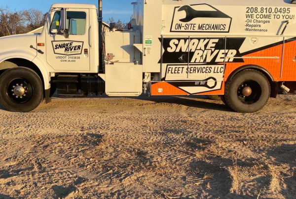 snake river fleet services truck wrap