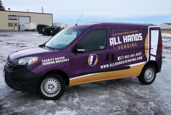 all hands vending truck wrap